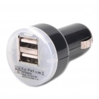 Compact Dual-USB Car Cigarette Powered Charging Adapter Charger for iPhone 4/3GS/iPad/Samsung/MP3