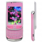 "Mini 9800 2,6 ""LCD Dual SIM Dual Network Standby Quadband QWERTY Slide Phone w / TV + JAVA - Pink"