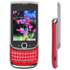 "Mini 9800 2,6 ""LCD Dual SIM Dual Network Standby Quadband QWERTY Slide Phone w / TV + JAVA - Red"