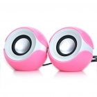 Fashion Portable 2-in-1 3.5Wx2 MP3 Music Speakers (USB + 3.5mm Jack)