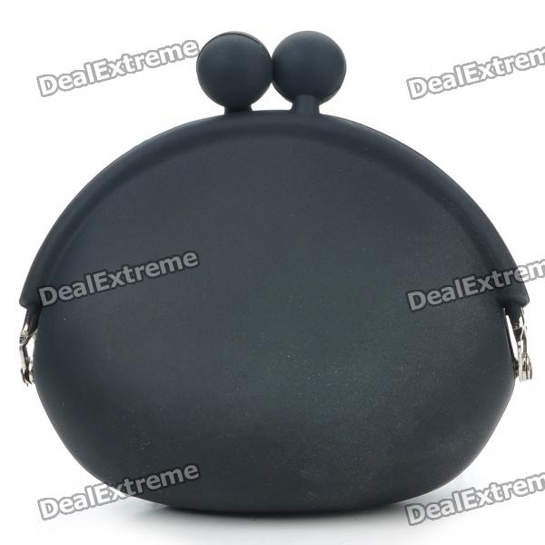 Mini Silikon Frog Coins Purse - Black