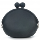 Mini Silicone Frog Coins Purse - Black