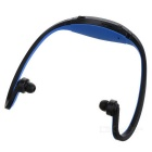 Sports USB Rechargeable MP3 Player Headset w/ FM/TF Slot - Blue