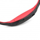 Sports USB Rechargeable MP3 Player Headset w/ FM/TF Slot - Red