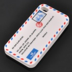 Creative Envelope Style Protective Soft Silicone Case for iPhone 4 - White