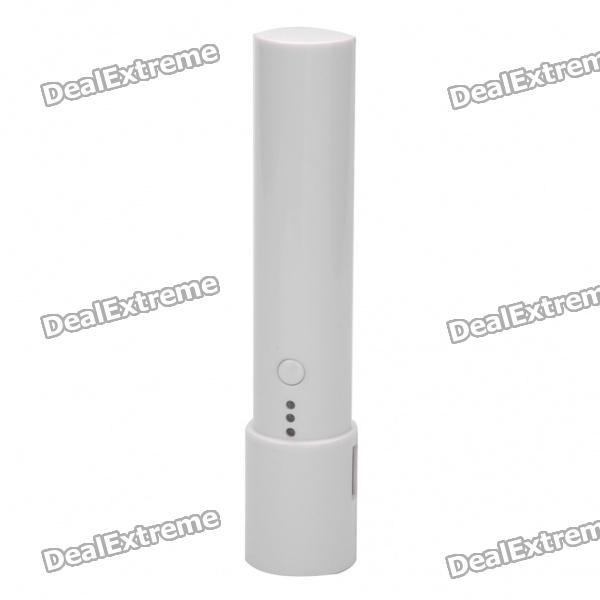 Portable Flashlight Style 2200mAh Emergency Mobile Power Charger w/ White LED Light for iPhone/HTC
