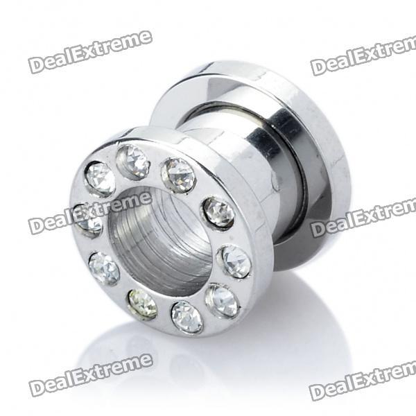 316L Surgical Steel Double Flare Tunnels Ear Plug - Silver