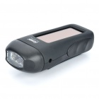 Solar Powered/Hand-Crank 2-Mode 3-LED White Light Flashlight