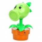 Lifelike Plants VS Zombies Pea Shooter Style 3W Speaker with Microphone - Green