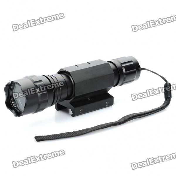 UltraFire Flashlight Aluminum Alloy Casing/Shell/Housing with Strap & Gun Mount - Black от DX.com INT