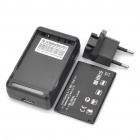 3.7V 1500mAh Battery + Battery Charger w/ US Plug/EU Plug Adapter Set for LG Optimus Black/P970