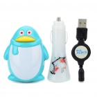 Universal Cute Penguin Style USB AC/Car Charger w/ 5 Charging Adapters for Nokia/Sony Ericsson/i900