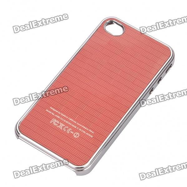 Protective Plastic Back Case for iPhone 4/4S - Red