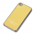 Protective Plastic Back Case for iPhone 4/4S - Yellow