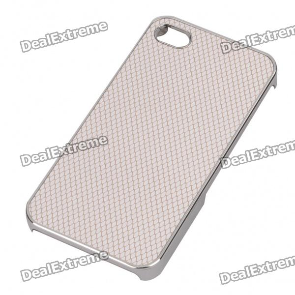 Stylish Protective Back Case for iPhone 4/4S - White + Gold