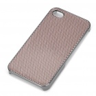 Stylish Protective Back Case for Iphone 4/4S - Coffee + Silver