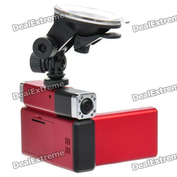 "12MP Dual Lens Weitwinkel Auto DVR Camcorder w / IR Night Vision / AV-Out / HDMI / TF (2,7 ""LTPS)"