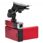 12MP Dual Lens Wide Angle Car DVR Camcorder w/ IR Night Vision / AV-Out / HDMI / TF (2.7