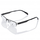 MINGDUN Fashion Resin Lens Stainless Steel Frame Glasses - Gun Metal Color