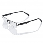 MINGDUN Fashion Stainless Steel Frame Resin Lens Glasses - Black
