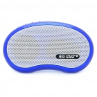 Stylish Portable Rechargeable MP3 Music Speaker Player with FM/TF/USB/AUX - Blue + White