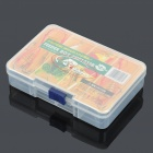 Tragbarer 4-Fach ABS Fishing Tackle Box - transparent weiß