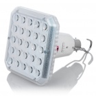 B22 1W 6500K 140LM 2-Mode 25-LED White Light Bulb w/ Hook (AC 80~220V)