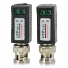 BNC 1 Channel Twisted Pair Video Balun Transceiver - Black (Pair)