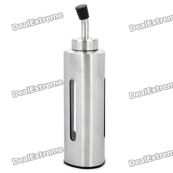 Stainless Steel Triangle Olive Oil Dispenser Bottle - Silver (230ml)