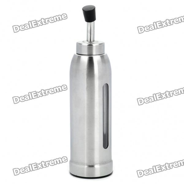 Stainless Steel Bullet Shaped Olive Oil Dispenser Bottle - Silver (230ml) stainless steel bullet shaped olive oil dispenser bottle silver 230ml