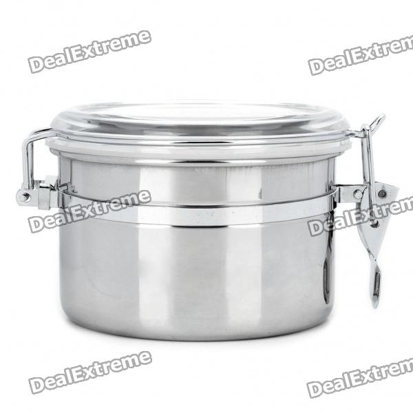 Stainless Steel Airtight Pot Fresh Food Storage Container - Silver (450ml)