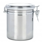 Stainless Steel Airtight Pot Fresh Food Storage Container - Silver (1400ml)