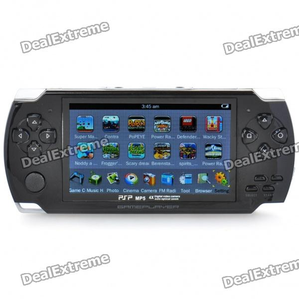 "4,3 ""LCD Portable Game Console Media Player w / 300KP Kamera / FM / AV-Out / TF - Black (4GB)"