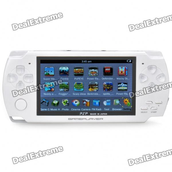 "4,3 ""LCD Portable Game Console Media Player w / 300KP Kamera / FM / AV-Out / TF - White (4GB)"