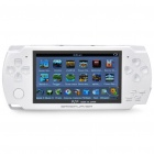 "4.3"" LCD Portable Game Console Media Player w/ 300KP Camera / FM / AV-Out / TF - White (4GB)"