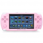 "4.3"" LCD Portable Game Console Media Player w/ 300KP Camera / FM / AV-Out / TF - Pink (4GB)"