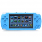 "4.3"" LCD Portable Game Console Media Player w/ 300KP Camera / FM / AV-Out / TF - Blue (4GB)"