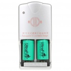UltraFire Rechargeable 3.0V 800mAh CR2 17250 Batteries w/ Charger (Pair)