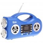 "Multi-Function 1.4"" LCD MP3 Player Speaker w/ Dual 7-LED Flashlight / FM / USB / SD / TF Slot"