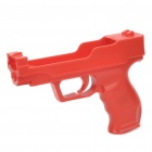 Plastic Motion Plus Function Laser Gun for Wii Remote and Nunchuck - Red