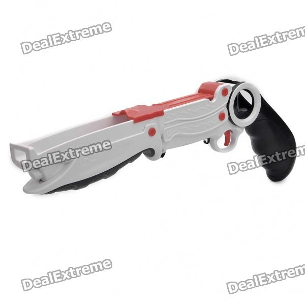 Plastic Motion Plus Function Shot Gun for Wii Remote and Nunchuck