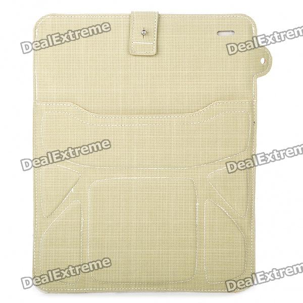 Protective PU Leather Case Pouch for iPad 2/Samsung P7500/7510 - Light Army Green
