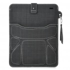 Protective PU Leather Case Pouch for Ipad 2/Samsung P7500/7510 - Black