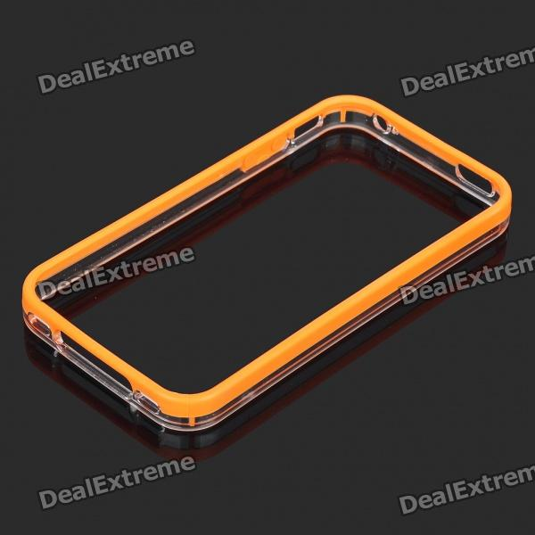 Protective Bumper Frame for Iphone 4S - Orange stylish protective bumper frame case for iphone 4 4s dark blue