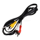 4-Pin 3.5mm Minijack to 3 x RCA Composite AV Cable (1.25-Meter)