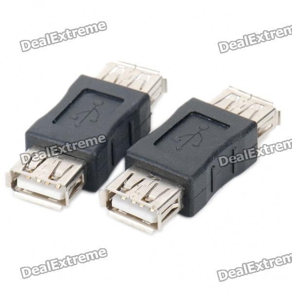 USB Female to Female Adapters Couplers - Black