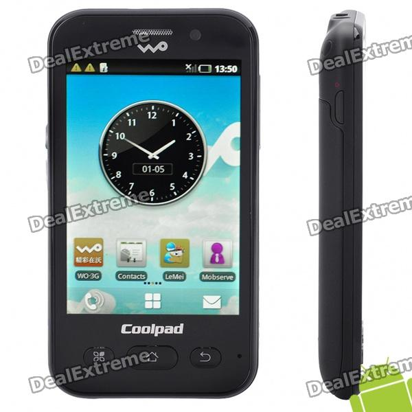 "Coolpad W711 3.5"" Touch Screen 3G WCMDA Android 2.1 Smartphone w/ Wi-Fi - Black"