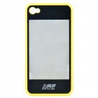2-in-1 3D Movie Watching Case Protective Back Case for Iphone 4 - Yellow + Black