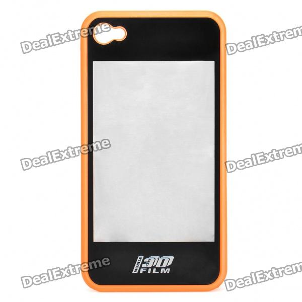 купить 2-in-1 3D Movie Watching Case Protective Back Case for Iphone 4 - Orange + Black недорого