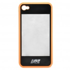 2-in-1 3D Movie Watching Case Protective Back Case for iPhone 4 - Orange + Black